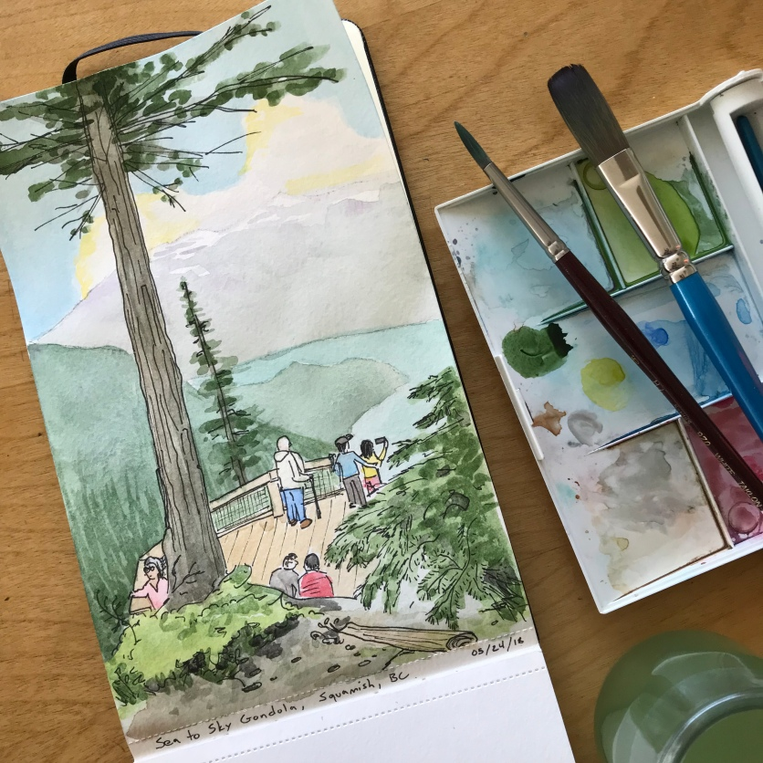 A travel sketch from a trip to the west coast in May