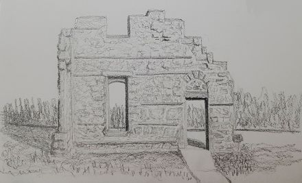 Rundle ruins sketch